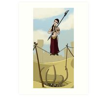Princess Leia on the Wire Art Print