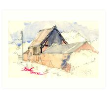 Edgmond Barn Art Print