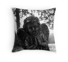 Cemetary Angel Throw Pillow