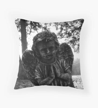 Cemetary Angel Throw Pillow
