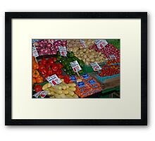 fruit market 2 Framed Print