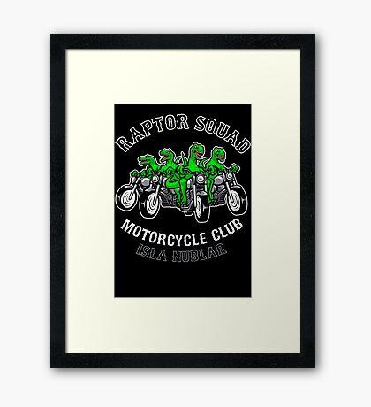 Raptor Squad Motorcycle Club Framed Print