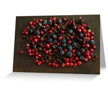 Spice Berries Greeting Card