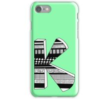 "The Letter ""k""  iPhone Case/Skin"