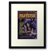 Pulp Fiction Poster Framed Print