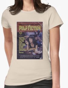 Pulp Fiction Poster Womens Fitted T-Shirt