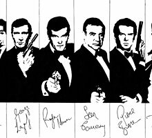 James Bond - multiple actors with signatures by vknight1989