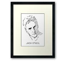Jack O'Neil Stargate on white background Framed Print