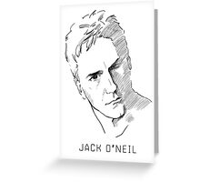 Jack O'Neil Stargate on white background Greeting Card