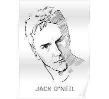 Jack O'Neil Stargate on white background Poster