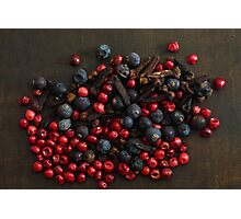 Different spice berries  Photographic Print