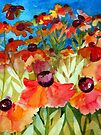 Bright Heleniums by Val Spayne
