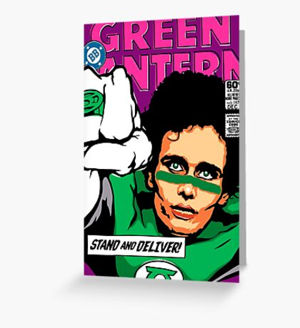 Post-Punk Super Friends - Green Greeting Card