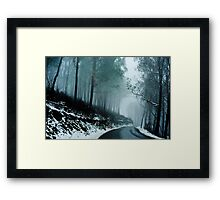 Into a cold dark place   [e] Framed Print