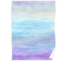 Evening Sky Over Alki Beach Poster