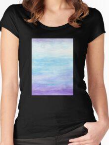 Evening Sky Over Alki Beach Women's Fitted Scoop T-Shirt