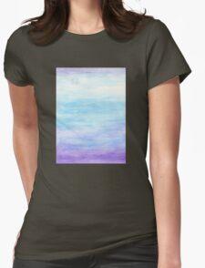 Evening Sky Over Alki Beach Womens Fitted T-Shirt