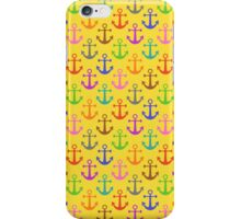Colorful Anchor Pattern Retro Nautical iPhone Case/Skin