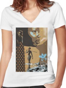 Africa Luanda ilha Women's Fitted V-Neck T-Shirt
