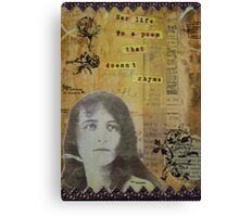 Her life is a poem Canvas Print