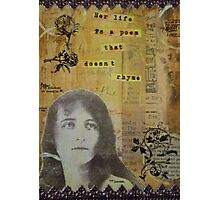 Her life is a poem Photographic Print