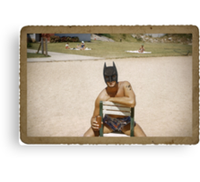 Batman on the Beach Canvas Print