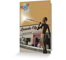 Angola - Salao de beleza Africa Greeting Card