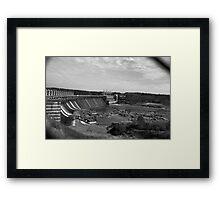 Jordan Dam  Framed Print