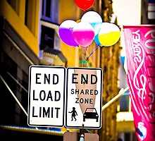 End of shared zone please leave all balloons on pole before exiting by David Petranker