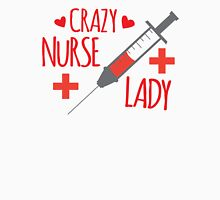 Crazy Nurse Lady Womens Fitted T-Shirt