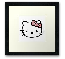Hello Kitty w/ Red Glitter Bow Framed Print