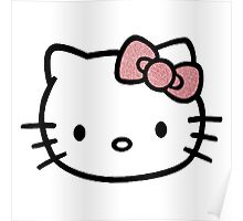 Hello Kitty w/ Red Glitter Bow Poster