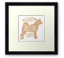 Crazy Akita (DOG) Lady Framed Print