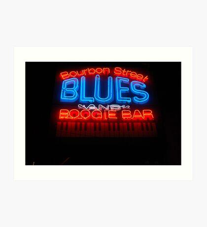 Bourbon Street Blues and Boogie Bar Art Print