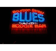 Bourbon Street Blues and Boogie Bar Photographic Print
