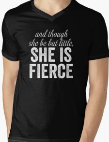 And Though She Be But Little Mens V-Neck T-Shirt