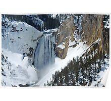 The Winter Melt - Lower Yellowstone Falls  Poster