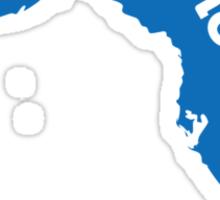 Florida Home Blue Sticker