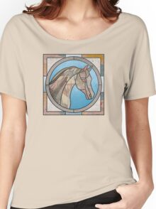 Stained Glass Map Horse Women's Relaxed Fit T-Shirt