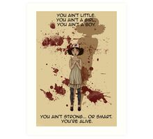 Small People Cast Large Shadows Art Print