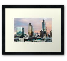 City of London Evening Skyline Framed Print