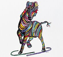 Kaleidoscope Zebra - Baby, Strut Your Stuff by EloiseArt