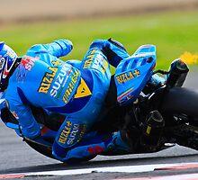 Tom Sykes No 66, Rizla Suzuki, British Superbikes, Croft Circuit, 2008 by RHarbron