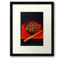 Chinese Meal  Framed Print