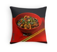 Chinese Meal  Throw Pillow