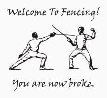 Fencing Broke Kids Clothes