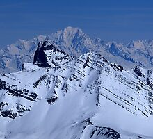 The needles of Arve and the Mont Blanc by Rémi Bridot