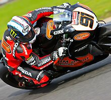 Leon Haslem no 91, HM Plant Honda, British Superbikes, Croft Circuit, 2008 by RHarbron