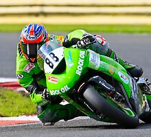 Scott Smart, Hawk Kawasaki, British Super bikes Croft Circiut 2008 by RHarbron