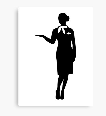 Stewardess airline Canvas Print